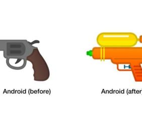Google updated Gun emoji, turned Pistol to Water Gun