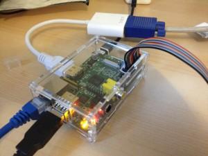 Raspberry Pi with HDMI to VGA Output