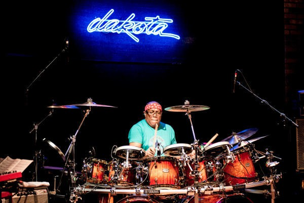 Billy Cobham on the drums.  Photos by Keith Tolar