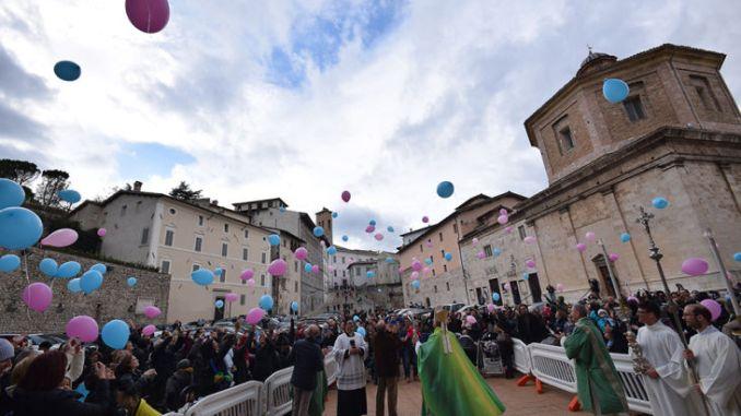 Celebrata la Messa per i nati nell'anno