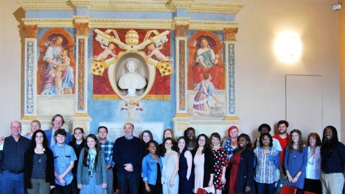 Studenti dell'università West Georgia e Charleston a Spoleto