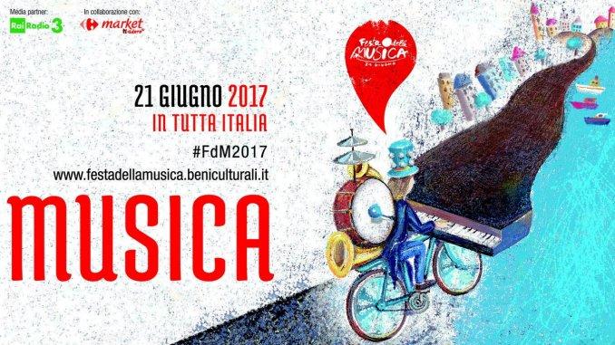 La festa della musica anche a Spoleto, dal 17 al 21 giugno 2017