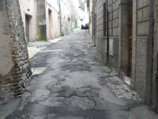 Spoleto, lavori in via delle Felici, dal 25 settembre