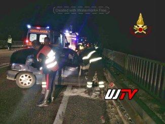 Incidente a Santo Chiodo Vigili del fuoco e Carabinieri sul posto un ferito