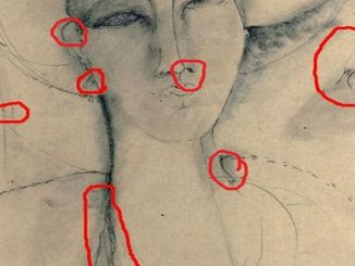 Femme Fatale, impronte di Modigliani su opera esposta a Spoleto