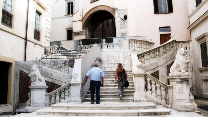Riaperta la scalinata di piazza Pianciani a Spoleto