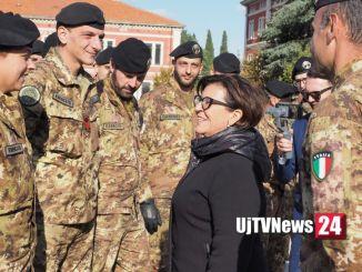 Il Ministro della difesa Elisabetta Trenta in visita a Spoleto
