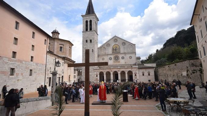 Celebrata la Domenica delle Palme nel Duomo di Spoleto