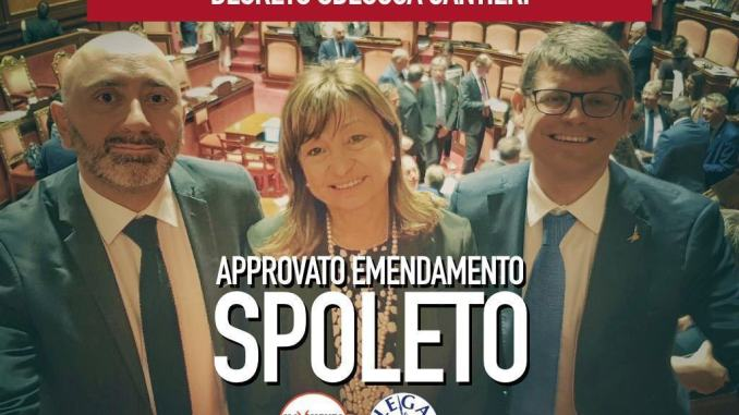 Sbloccacantieri, Lega e M5s, anche fondi per strade a Spoleto