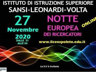 La Notte Europea dei Ricercatori 2020 nei licei spoletini
