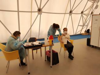 Spoleto: Iniziate vaccinazioni Palatenda questa mattina le somministrazioni