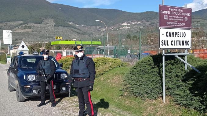 Carabinieri Spoleto, controlli serrati nel weekend di Pasqua