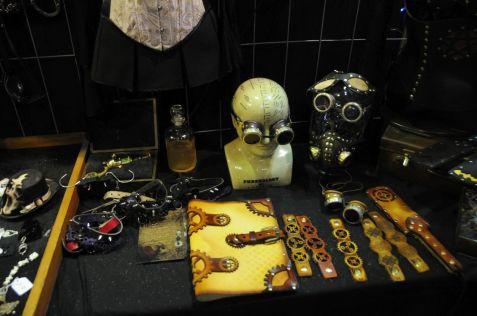 Steampunk Accessoires auf dem WGT