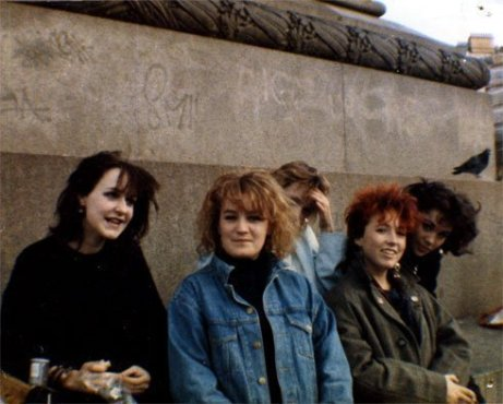 me, sue, tracey, louise, claire - london 1986