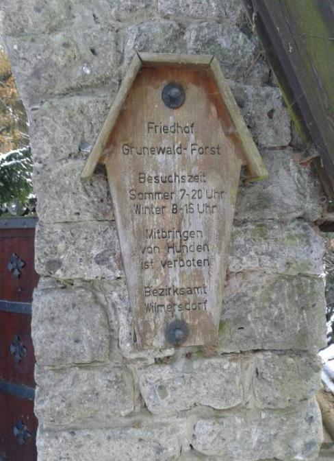 Friedhof Grunewald - Eingang