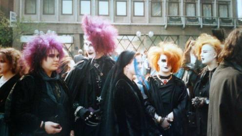 1990 - Björn und Manu zusammen auf der Domplatte