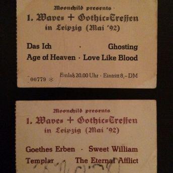 WGT Eintrittskarten 1992
