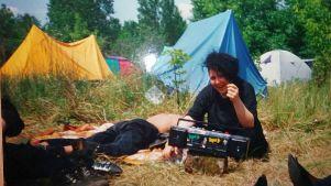 WGT 1992 - Zeltplatz mit Kassettenrekorder