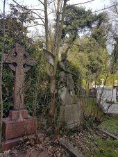 Als der Himmel aufreißt, werden wir mit Ansichten eines wunderbaren Friedhofs belohnt.