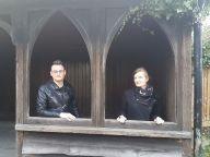 In diesem Neogotischen Wartehaus haben wir Schutz vor der Witterung gesucht.