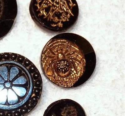 Brass Pictorial Button