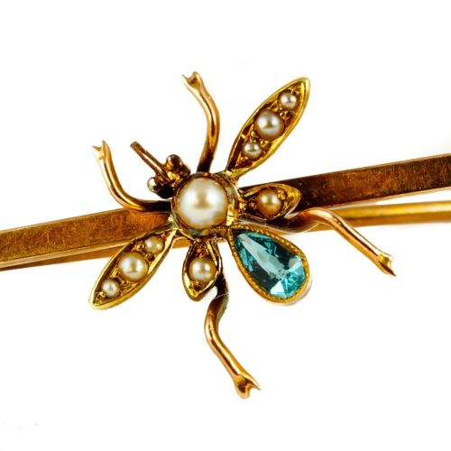 Topaz and pear brooch, c1900