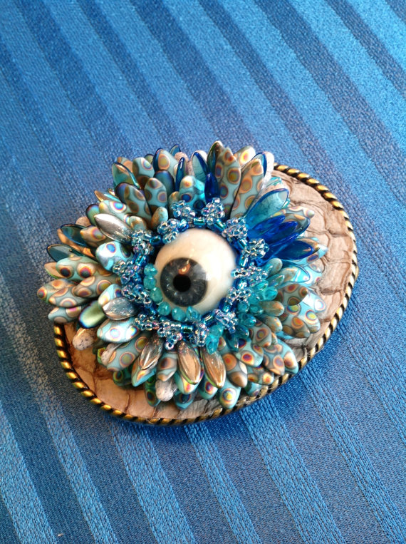I Can See You Clearly Now brooch by Unique and Macabre