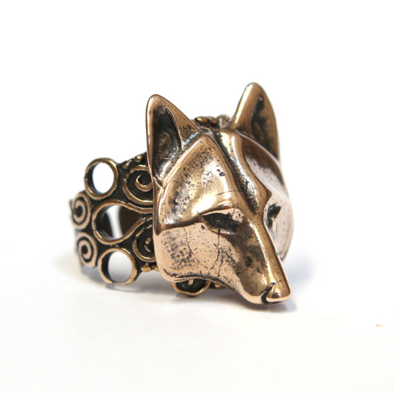Wolf Mask Ring