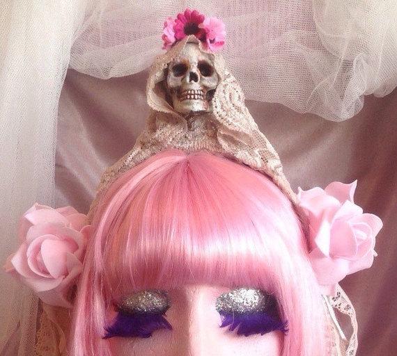 Santa Muerta headband