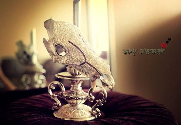Swarovski Crystal Encrusted Javelina Skull