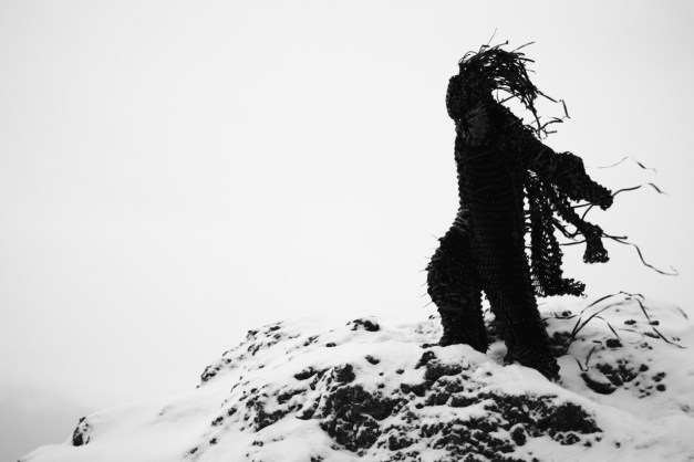 Creepy figures made from VHS tapes by Philip Ob Rey. Via The October Country