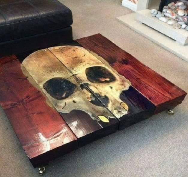 Skull Table via Horrific Finds