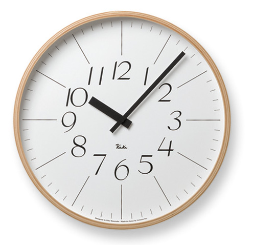 lemnos Riki Clock by Riki Watanabe Carved by Naoki Terada