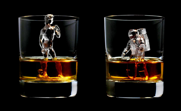 3D Ice Cubes Let Your Scotch Cool Down In Style Spoon