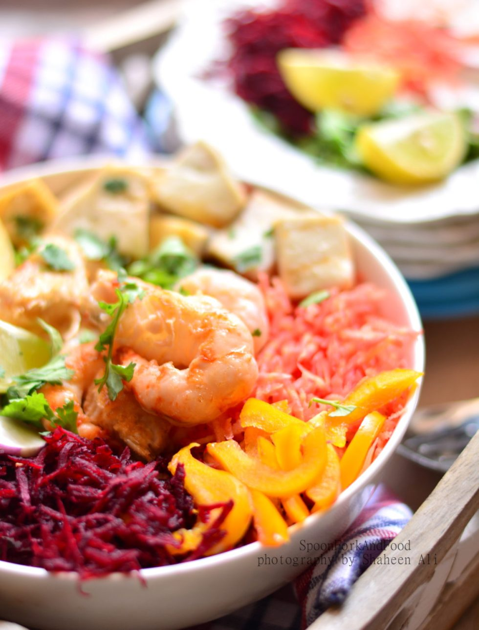 Tofu & Shrimp Salad with Balsamic Dressing
