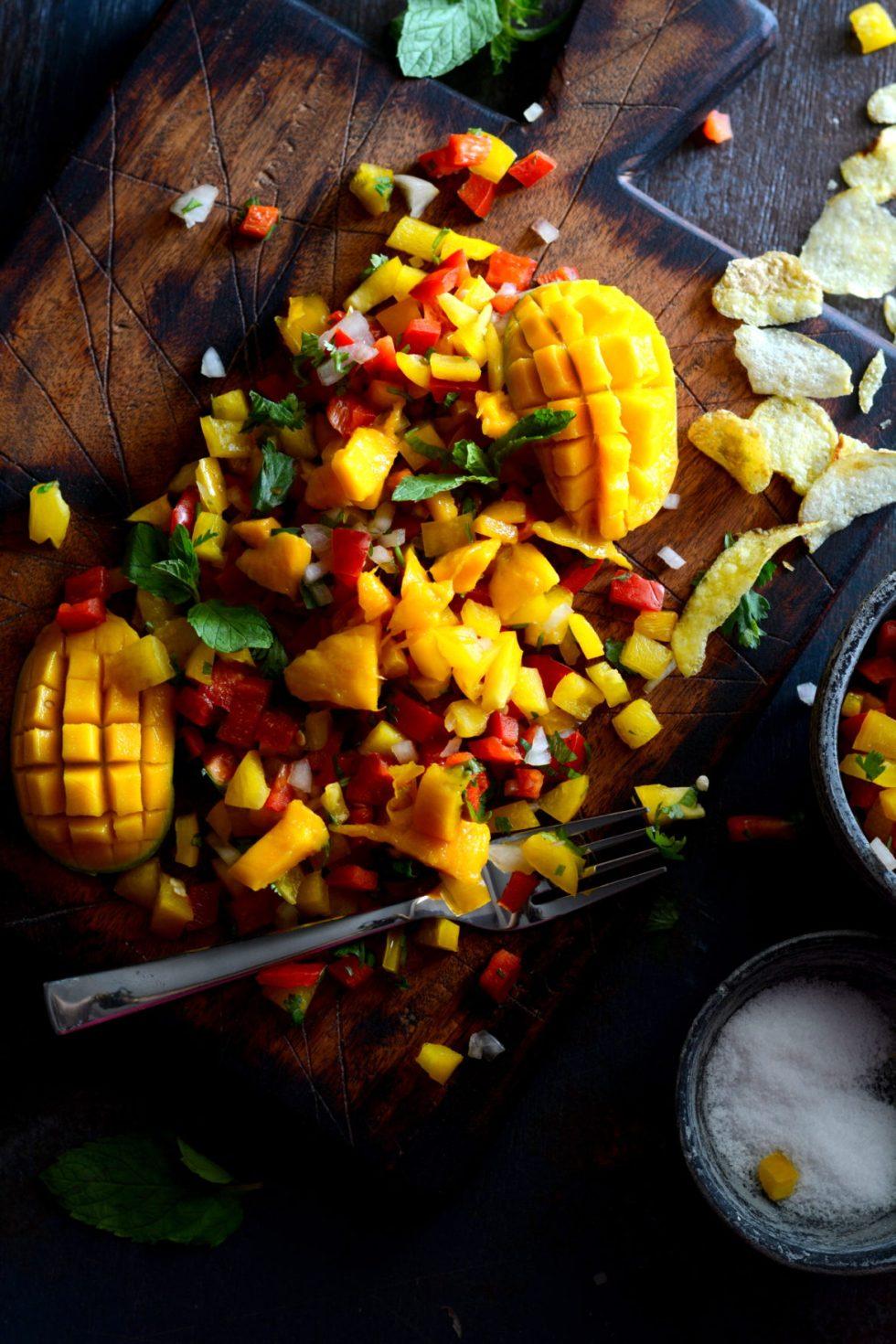 Mango Bell Pepper Salsa