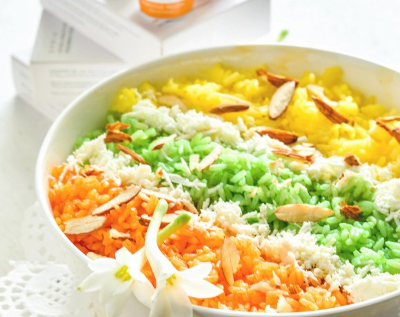 Tri Color Zarda Pulao – Made With Sprig All Natural Food Color