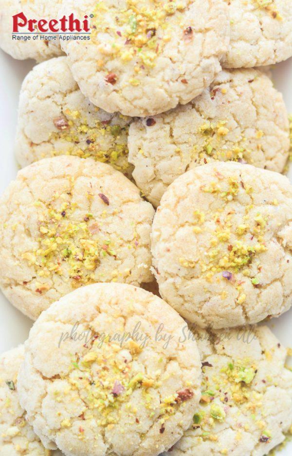 Pista Badam Oatmeal Cookies