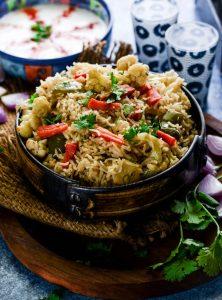 Brown Rice Veg Pilaf