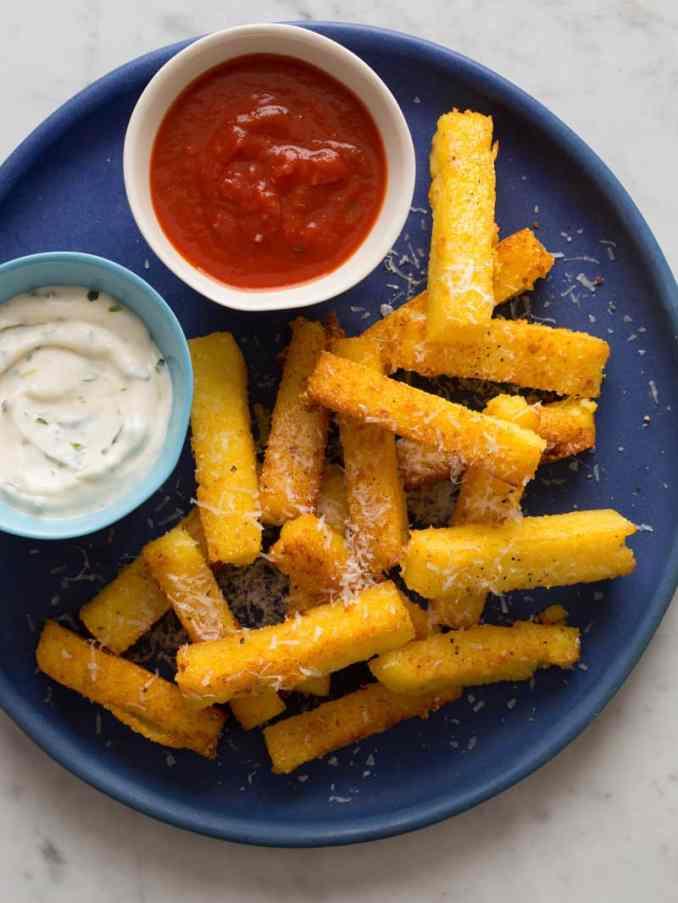 Polenta Fries recipe   Spoon Fork Bacon
