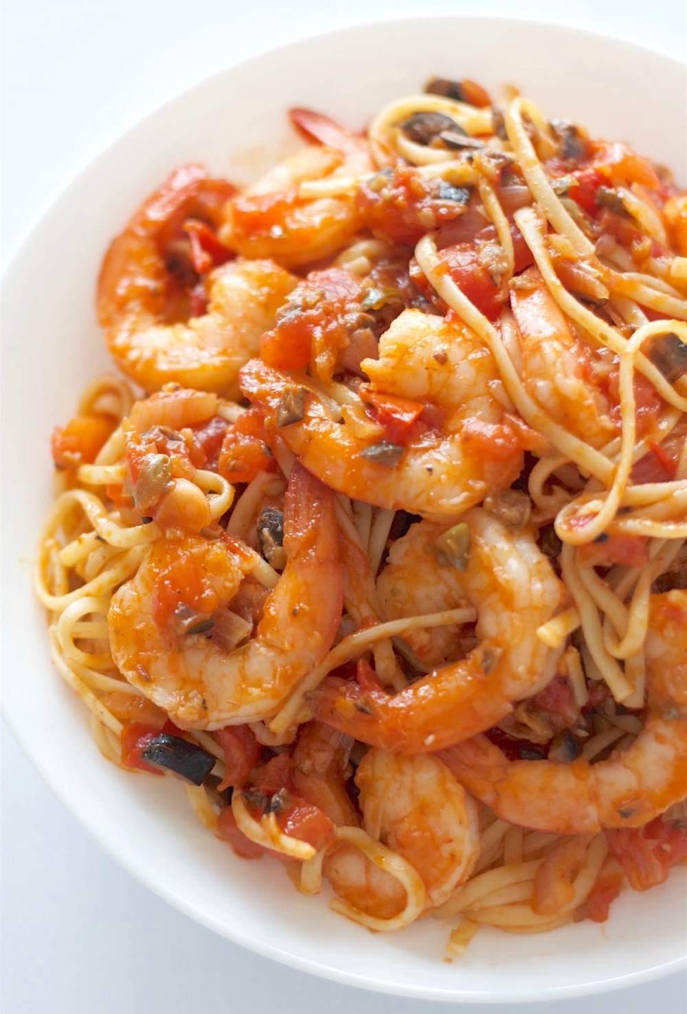 Shrimp Pasta Puttanesca