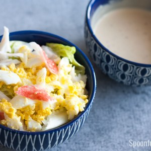 Crab Salad with Ponzu-Mayonnaise Dressing | www.SpoonfulOfButter.com