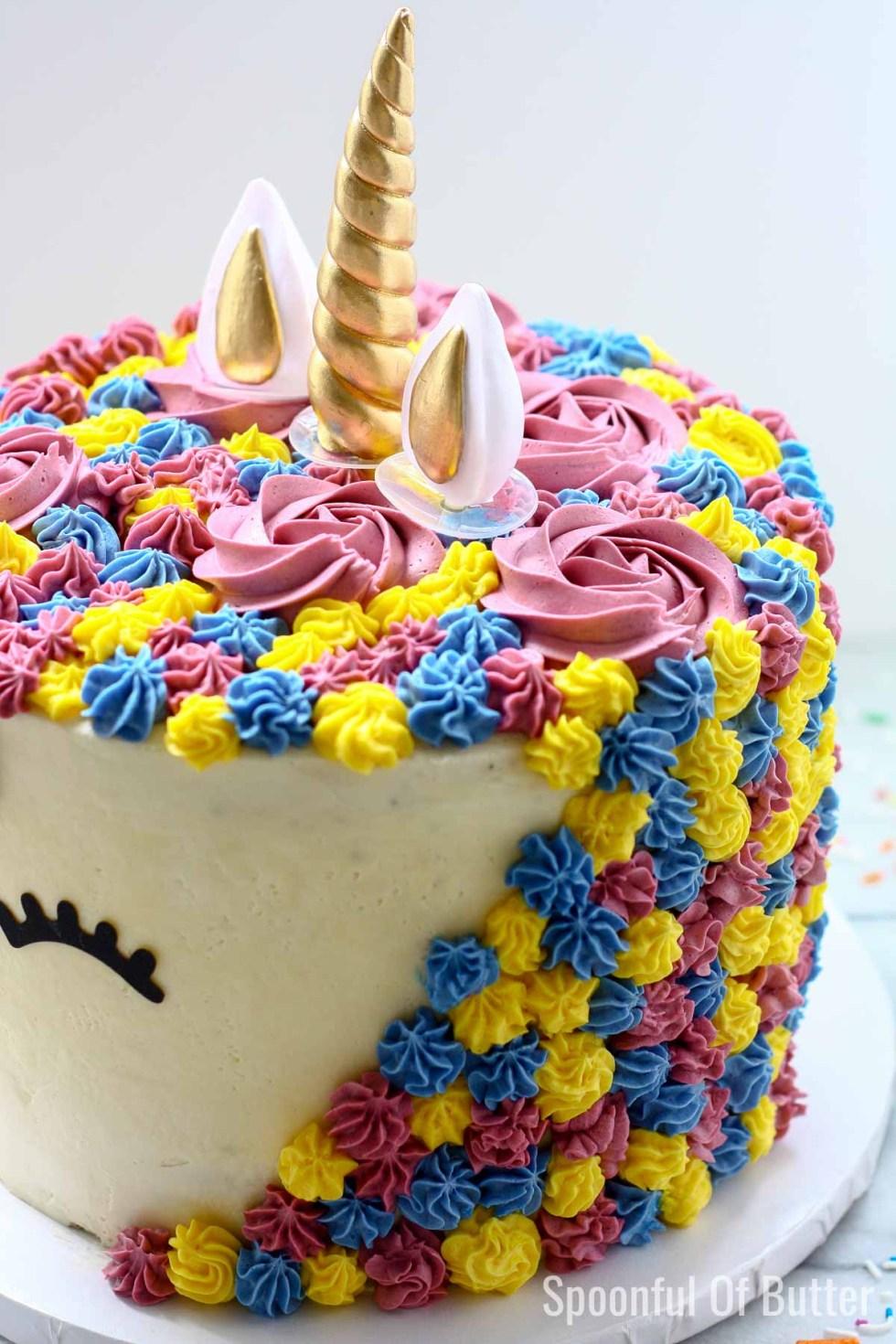 DIY Birthday Unicorn Cake 2