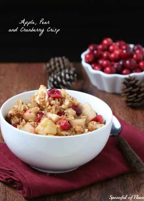 Apple Pear Cranberry Crisp