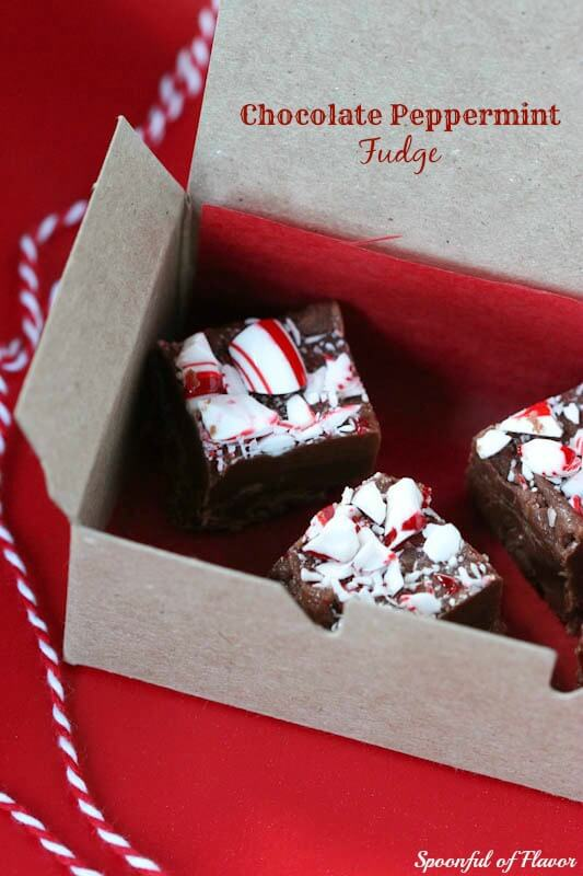 Chocolate Peppermint Fudge - rich and creamy with a hint of peppermint!