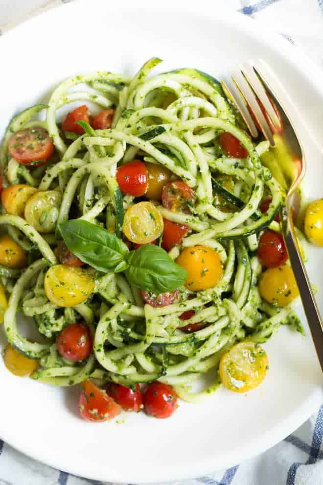 Kale Mint Pesto Zoodles Spoonful Of Flavor