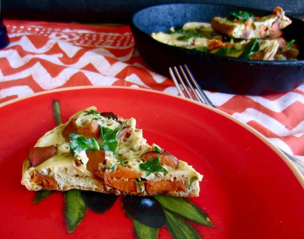 Roasted Sweet Potato and Rosemary Frittata
