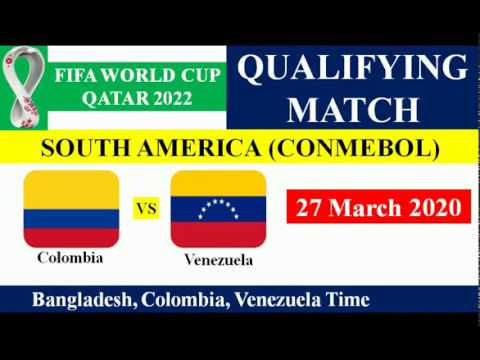 Colombia vs Venezuela - FIFA World Cup 2022 South American Qualify Match on 27 March 2020.