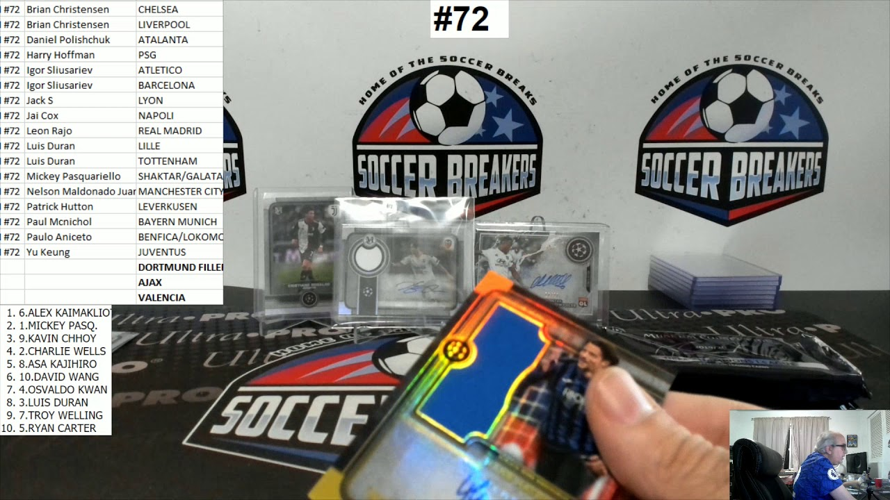 2019-20 Topps Museum Collection UEFA Champions League Soccer 4 Box PYT Break #72 SOCCER BREAKERS FC