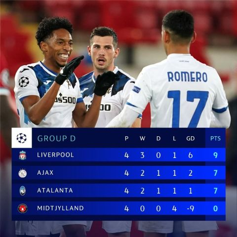Atalanta = the second  team to beat Liverpool at Anfield in the  after Fiorentin...